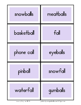 Word Sorts with Pictures -all, -aw, -alk, & -ock Sounds