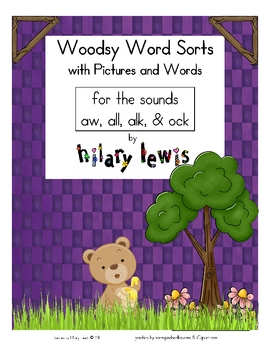 Word Sorts with Pictures -a... by Rockin' Teacher Materials-Hilary ...