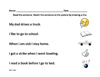 Word Sorts--Word Endings-Visual, Vocabulary--Sentences--Read with Comprehension
