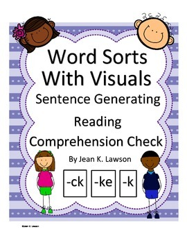 Word Sorts--Word Endings-Visual, Vocabulary--Sentences--Re