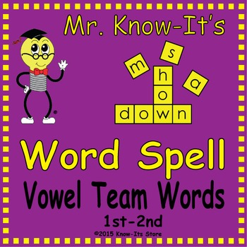 Word Spell Activity (Vowel Teams)