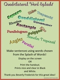 Word Splash - Quadrilateral Vocabulary