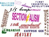 Word Splash for Opening Civil War Unit - Sectionalism