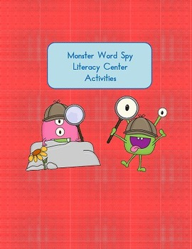 Halloween Activity - Word Spy Monster Fun - first and seco