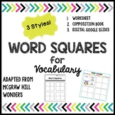 McGraw Hill Wonders Word Squares for Vocab - Worksheet, Co