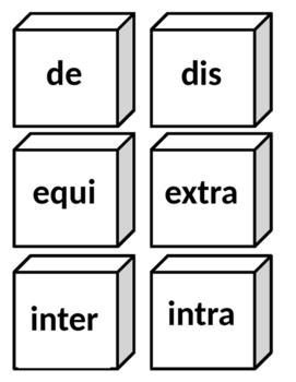 Word Stems Blocks
