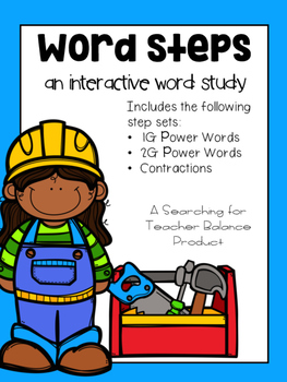 Word Steps - 1G, 2G, and Contractions Edition