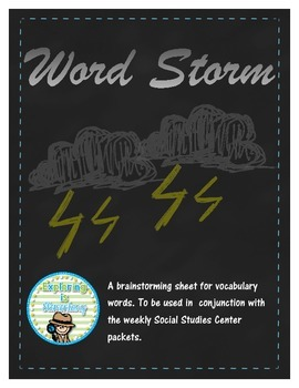 Word Storm Vocabulary Work