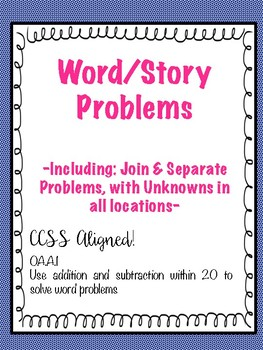 Word/Story Problem Activity Sheets