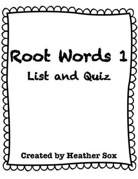 Word Study 1