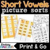 Short Vowels CVC Sorts No Prep