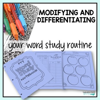 Word Study Activities, Routines, and Tips FREE E-Book