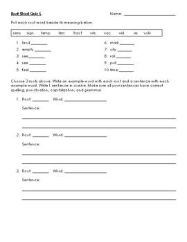Word Study 5