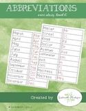 Word Study A- Abbreviations