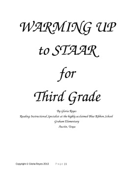 3rd Grade STAAR Reading:  Warming Up to STAAR Reading