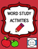 Word Study Activities - Special Education