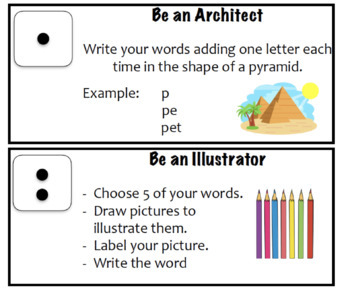 Word Study Activities - Home, Centers, May Do
