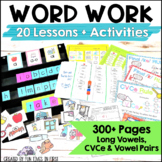 Word Study Activities: Long Vowels CVCe & Vowel Teams (First Grade)