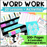 Word Study Activities: R-Controlled, Diphthongs & More