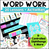 Words Their Way Activities: R-Controlled, Diphthongs & More
