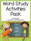 Word Study Activities Pack