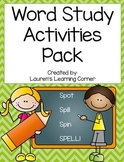 Word Study Activities Pack