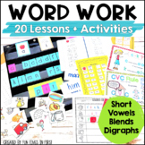 Words Their Way Activities: Short Vowels, Blends, & Digraphs