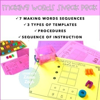 Word Work for Guided Reading Level A
