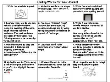 Word Study Activity