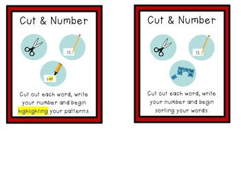 Word Study Activity Cards