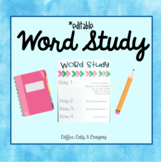 Word Study- All You Need to Get Started!