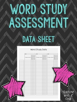 Word Study Assessment Data