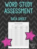 Word Study Assessment Data