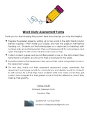 Word Study Assessment Forms