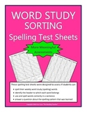 Word Study Assessment Sheets with Headers (Words Their Way