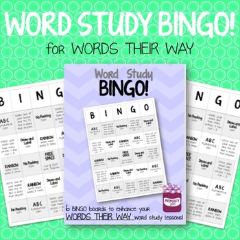 Word Study BINGO Activity {Words Their Way}