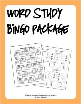 Word Study Bingo Package