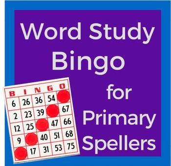 Word Study Bingo for Primary Spellers