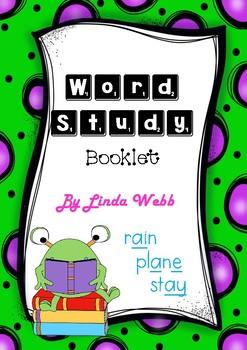 Word Study Booklet Activities