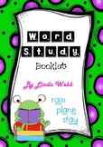 Word Study Booklet Activities