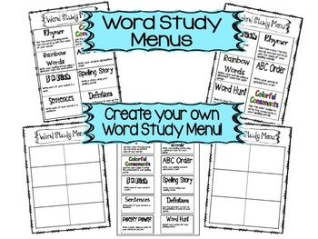 Word Study Bundle!