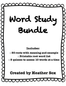Word Study Bundle