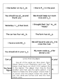 Word Study - CVVC Fill in the Blank Game