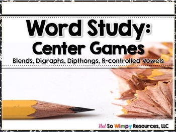 Word Study Center Games