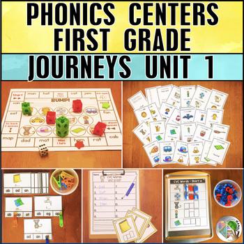 Word Study Centers (Journeys First Grade Unit 1 Phonics Supplemental Resource)