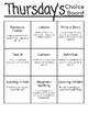 Word Study Choice Board