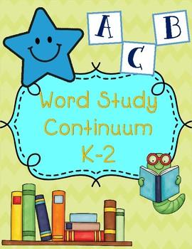 Word Study Continuum K-2