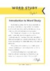 Word Study Cycle 1  -FULL YEAR-
