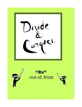 "Word Study: Divide and Conquer Packet ""Ex"""