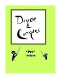 """Word Study: """"Divide and Conquer"""" Packet """"Pre"""""""